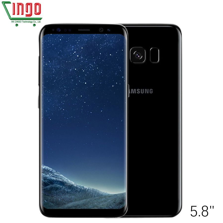 Original samsung galaxy S8 SM-G950F 4G LTE teléfono móvil 64 GB 5.8 pulgadas solo SIM 12MP 3000 mAh S serie Smartphone