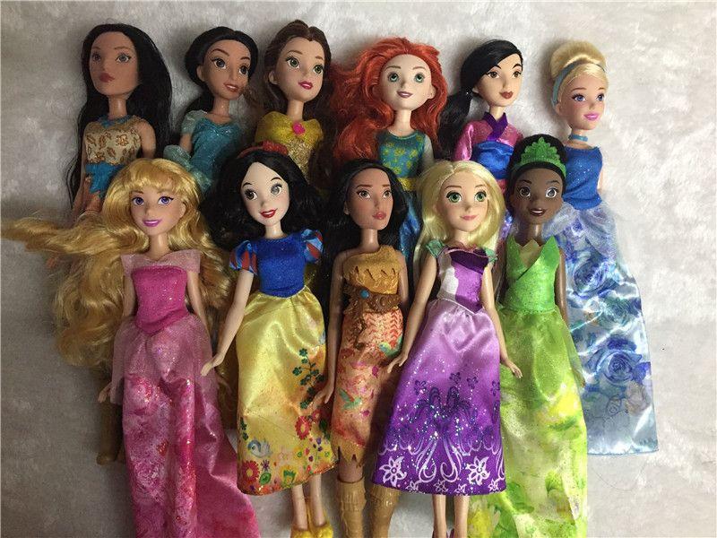 Rapunzel Poupées Jasmine Princesse Poupée Blanche-Neige Ariel Belle Rapunzel jouets Pour Les Filles Brinquedos Jouets bjd poupées Pour Enfants Enfants