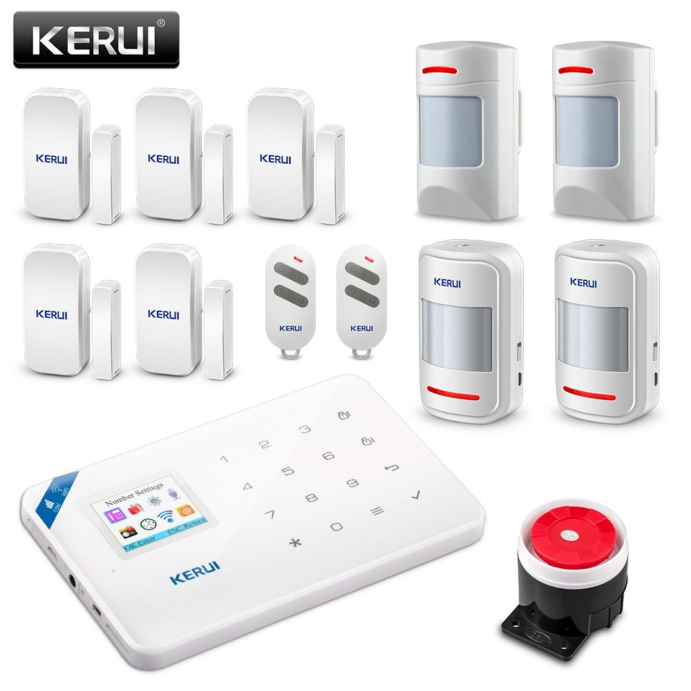 Original KERUI WI8 Pet Immune PIR Detector Smart WIFI GSM Burglar Security Alarm System  IOS/Android APP Control Home