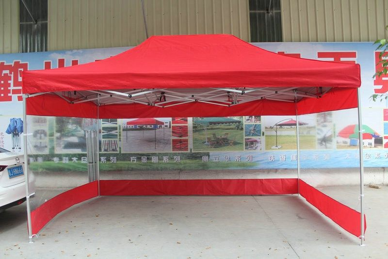 3*4.5m Outdoor Folding Advertising tents Sun shelter Gazebos with transparent waterproof PVC side cloth