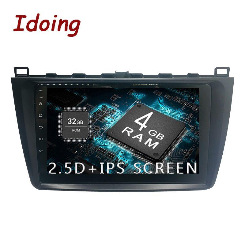 Idoing 1Din Android8.0 Lenkung-Rad Auto Radio Multimedia Player Fit Mazda 6 GPS Navigation 4G + 64G octa Core 1080 P Bluetooth