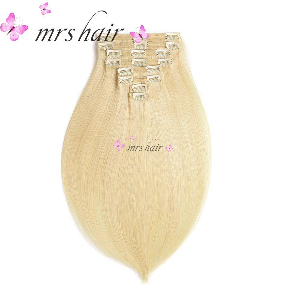 MRSHAIR 18 20 22 Machine Made Remy <font><b>Clip</b></font> In Human Hair Extensions Thick 8pcs/Set Brazilian Hair <font><b>Clip</b></font> In Full Head Big Set Hair