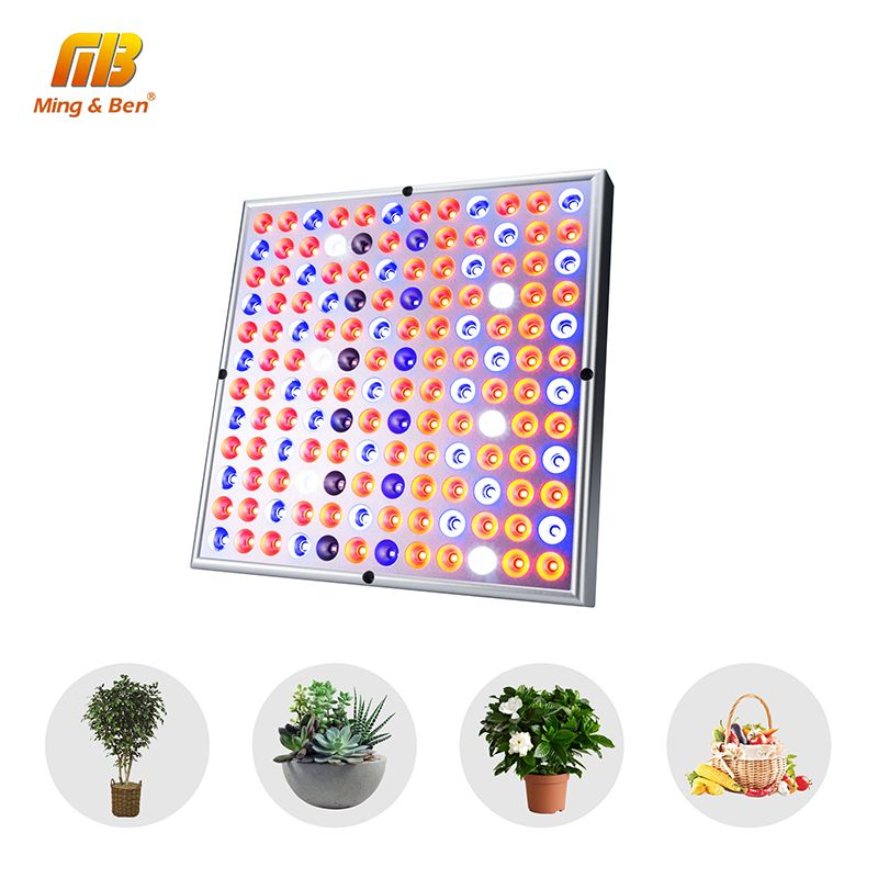 [MingBen] 45W LED Grow Light Full Spectrum 85-265V Plant Grow Light 144leds UV IR lamps Panel For Greenhouse Plant Indoor Growth