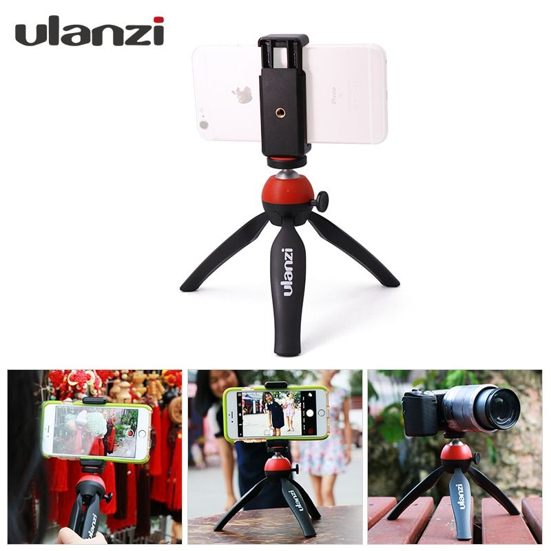 Ulanzi Mini Portable Tripod Stand Mount with Holder Desktop Self-Tripod for iphone 7 plus Android Smartphone