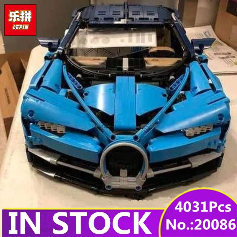 IN STOCK LEPIN 20086 20086B 4031Pcs Technic Series 42083 Blue Chiron Racing Car Set Building Blocks Bricks Kids Toys Car Model