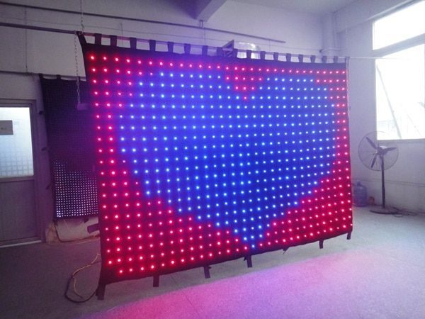 Free shipping 2*2m P100MM led vision curtain set with controller system