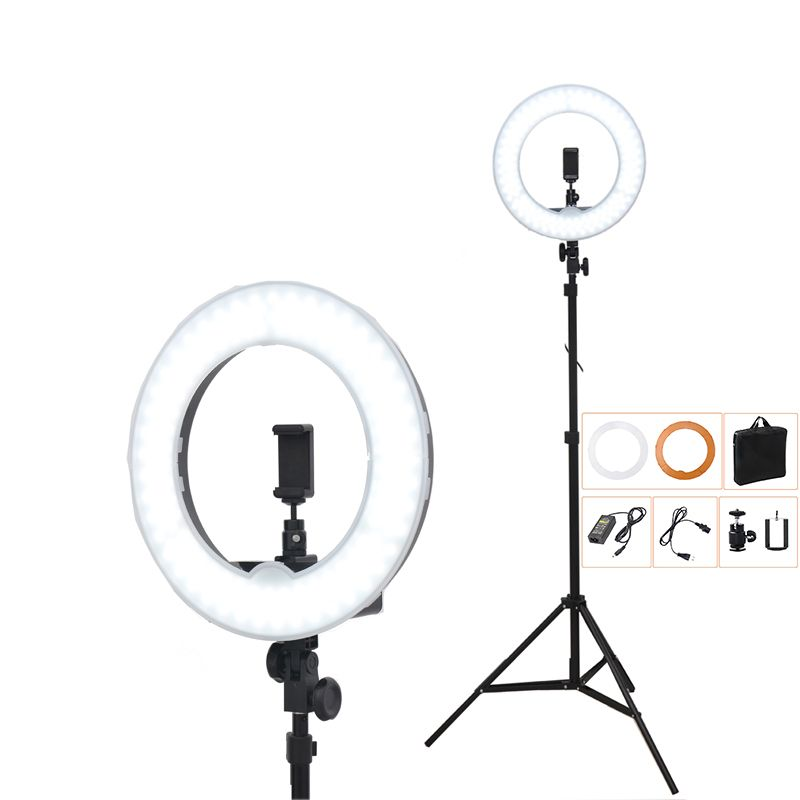 5500K 240 LED 55W Photographic Lighting Dimmable Camera Photo/Studio/Phone/Video Photography Ring Light Lamp&Tripod Stand