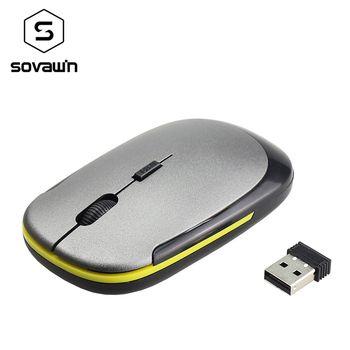 2.4G Sans Fil Souris USB 2.0 Récepteur Super Slim Mini Mignon Optique Souris sans fil USB Droit Défilement Souris pour Ordinateur Portable PC Jeu Vidéo