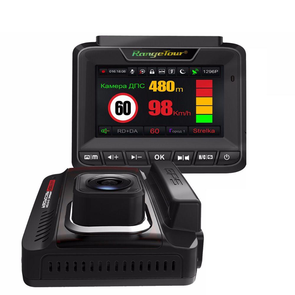 2018 New Radar Detector For Russia 3 in 1 Car Detector GPS Video Recorder DVR 1296P Super Night Vision Anti Radar For Vehicle
