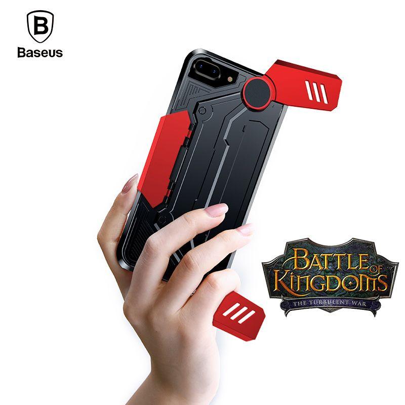 Baseus Gamer Gamepad Cas Pour iPhone 8 7 Plus De Luxe Complet Protection De Jeu Titulaire Capinhas Pour iPhone 8 PC Retour Shell Coque Funda