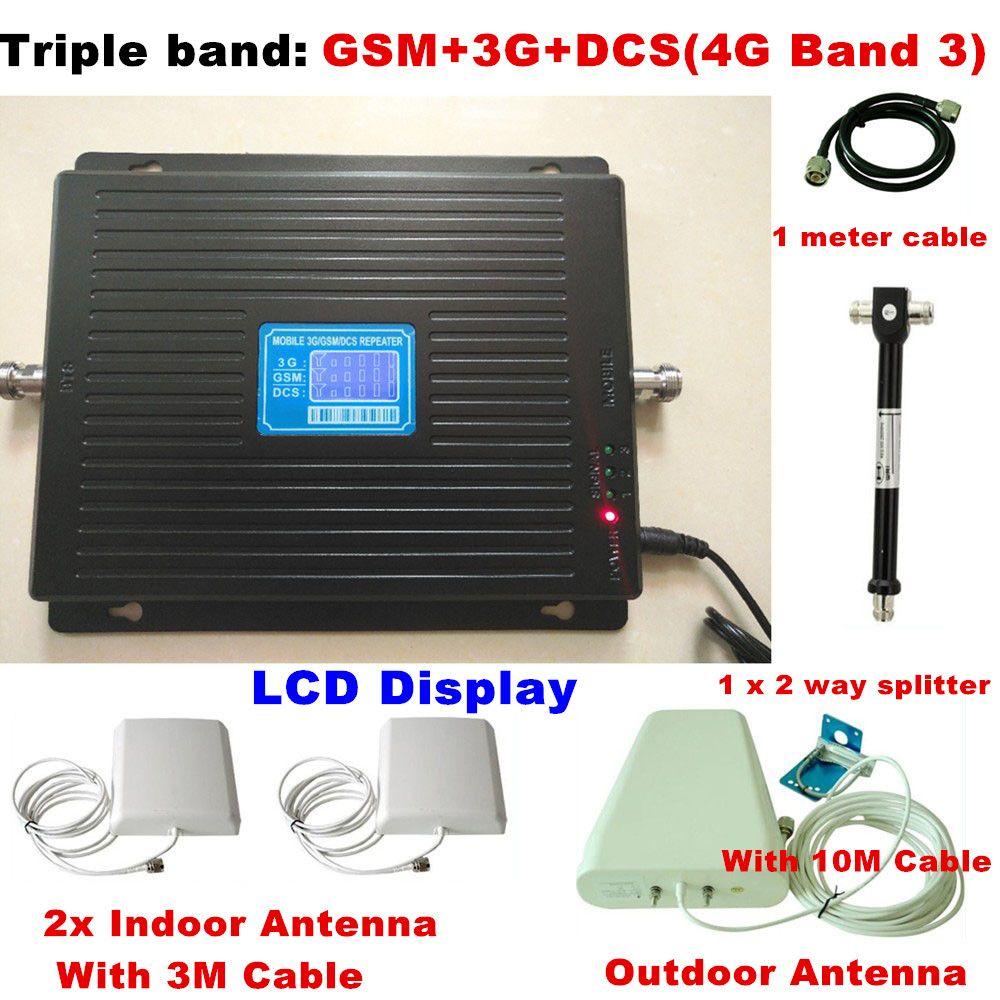 2G 3G 4G GSM 900 3G 2100 LTE 4G 1800 Tri-band Handy Signalverstärker Verstärker 4G LTE Antenne Für 2 zimmer