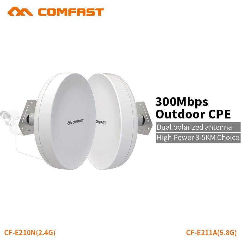 COMFAST wifi router outdoor CPE wireless repeater 300mbps router bridge outdoor wifi repeater for long range IP camera project