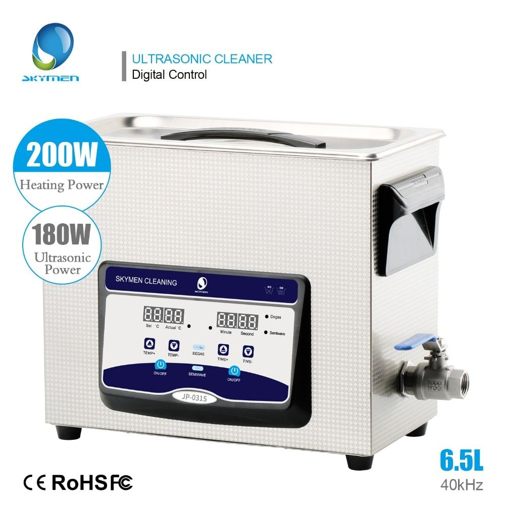 Ultrasonic Cleaner Bath 6L 6.5L 180W 40kHz 110/220V Engine Parts Moto/Auto parts Commercial Component Industry Golf Clubs