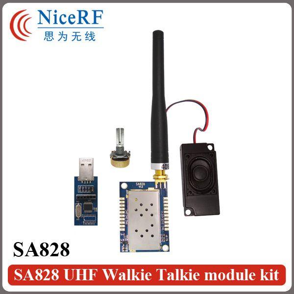 2 ensembles 1 W 400 MHz à 480 MHz uhf talkie-walkie module vocal