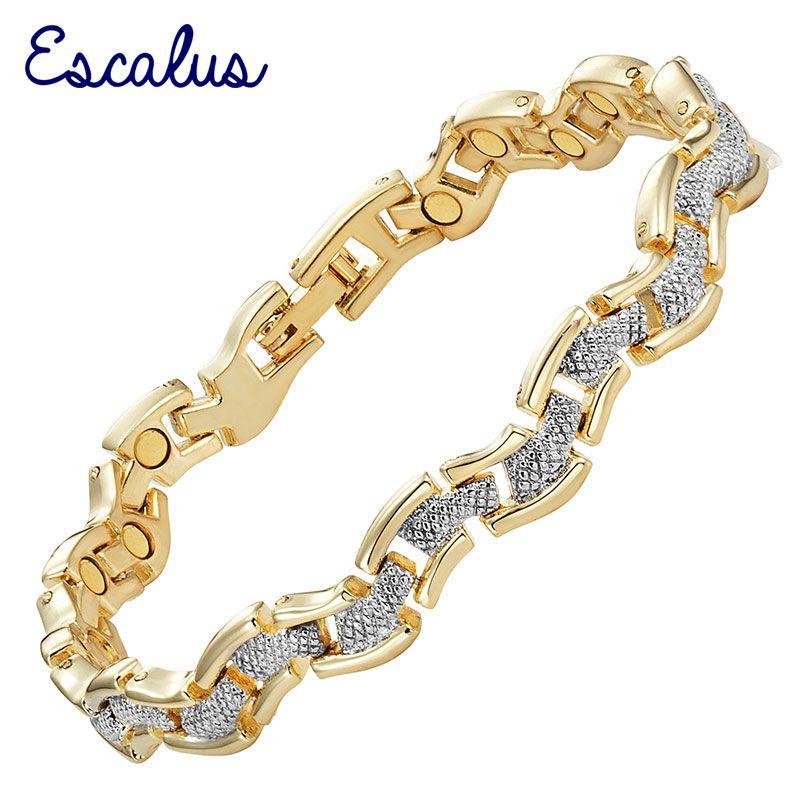 Escalus Bracelet de bijoux magnétiques à la mode pour femmes couleur or cadeau mode dames charme nouveau Bracelet Bracelet