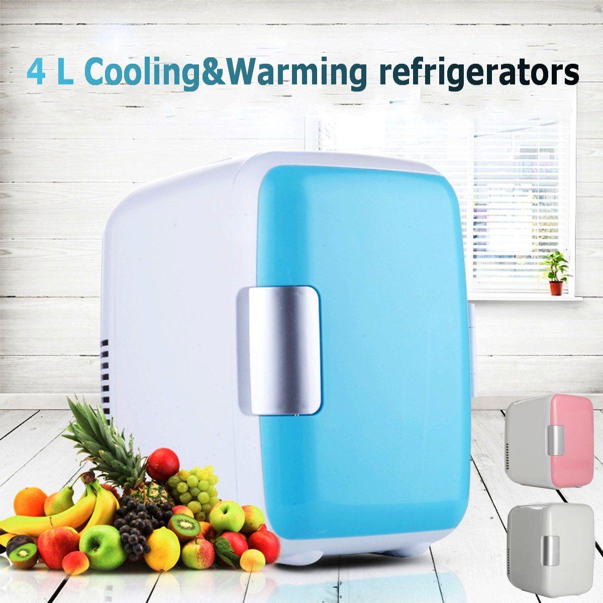 KROAK Portable Mini Car Refrigerator Fridge 4L Cooler Warmer Car Freezer Boat Home Office 12V