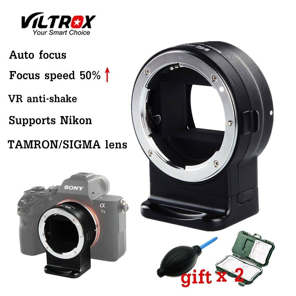 Viltrox NF-E1 AF Auto Focus EXIF Signal Lens Adapter Ring Tube For Nikon F lens to Sony A6000 A6500 A9 A7RIII A7RIIDSLR camera