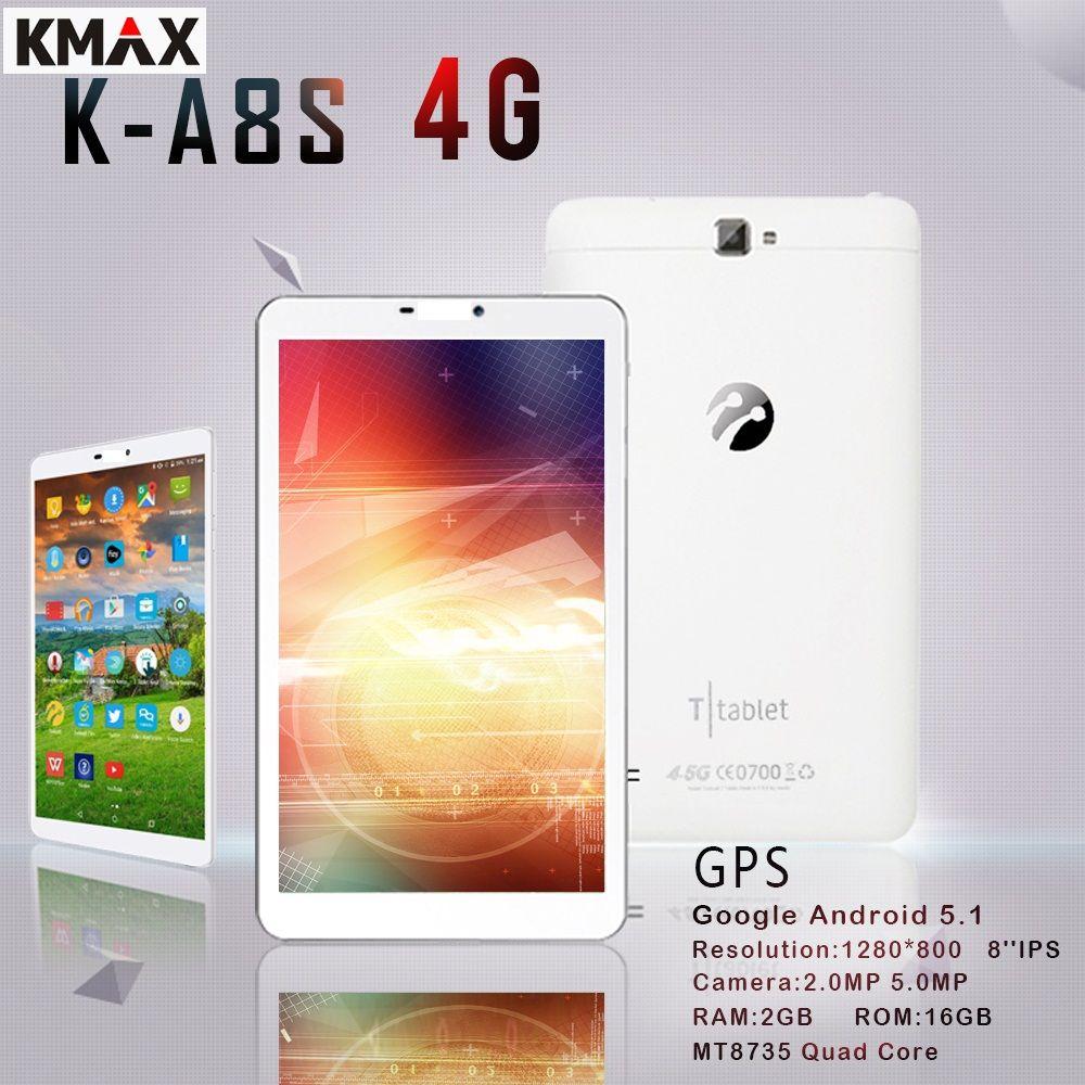 KMAX 8 pouce 4g lte Téléphone Appel Tablet PC android Quad Core 2 gb 16 gb RAM 5MP Caméra wifi bluetooth Phablet livraison mini pad cas 7 10