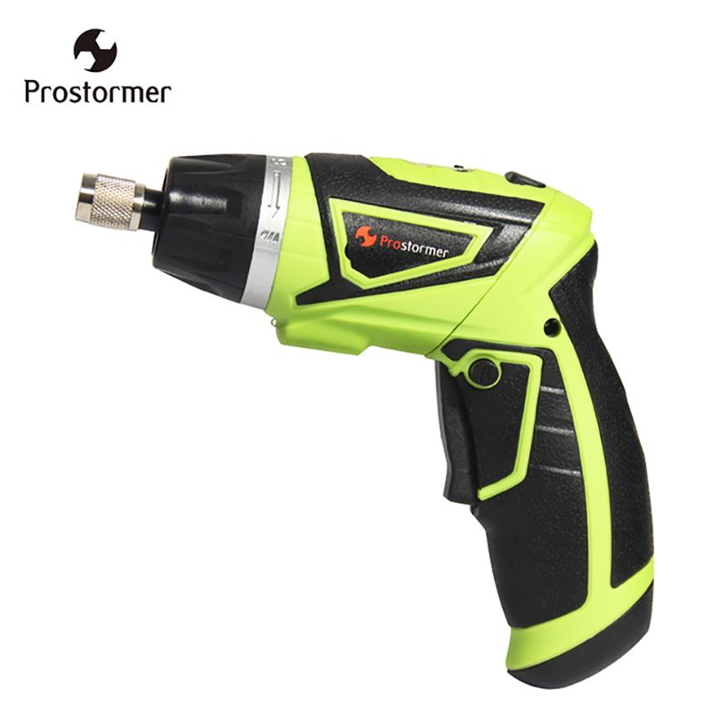 Prostormer 7.2V Handheld Cordless Screwdriver with LED Lithium-ion Battery Electric Screwdriver Household Multifunction Tools