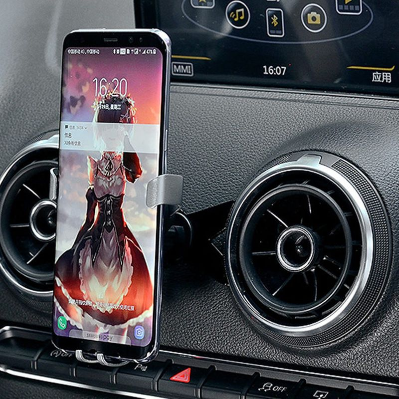 M Shape mobile phone holder car Air Vent /AutoBot Gravity Car Air Outlet Mount cell phone bracket  for Audi A3/S3 (2014-2018)