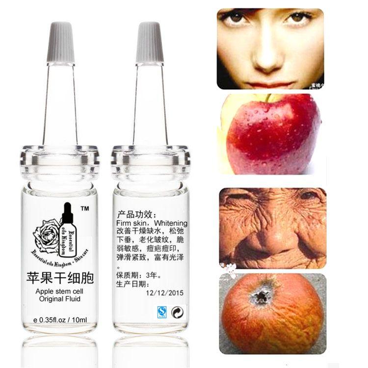 10 ml * 2 pcs Apple Cellules Souches D'origine Fluide Liquide Blanchiment Rides Hydratant Anti Vieillissement Prolapsus molle, Fragile Sensible