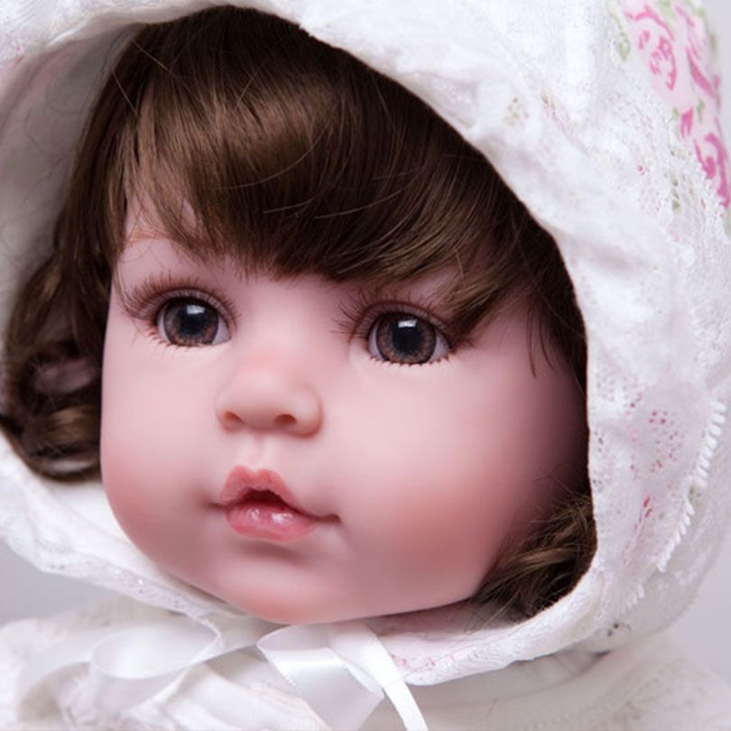 55cm Soft Silicone Reborn Baby Dolls Toy Realistic 22inch Vinyl Princess Toddler Girl Babies Alive Like Real Doll Birthday Prese