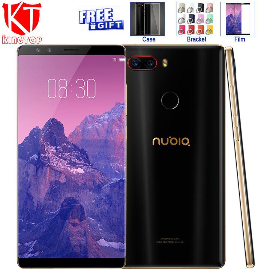 Ursprüngliche ZTE Nubia Z17S Z17 S Handy Snapdragon 835 6 GB RAM 64 GB ROM 5,73 zoll Android 7.1 4 Kameras NFC Smartphone