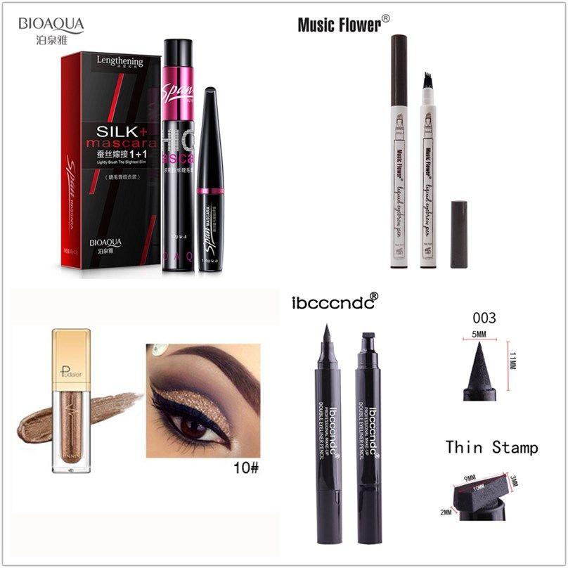 BIOAQUA Music Flower ibcccndc Eye Makeup Three-Piece Set