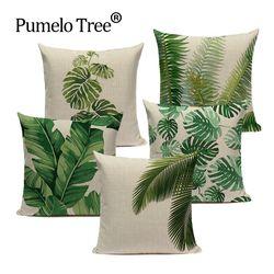 Tropical banana Feuilles Coussin Couverture Palm Feuille Taies d'oreiller Linge De Voiture Décoratif Taie D'oreiller Grand plancher Canapé Maison Coussins