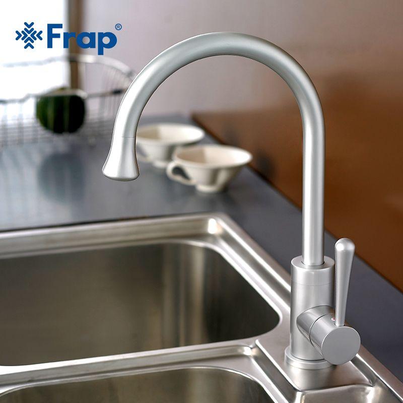 Frap Classic Kitchen mixer Space aluminum  Anodizing Swivel Basin Faucet 360 degree rotation F4152