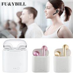 Fu et y Bill Nouveau i7 bluetooth écouteurs Jumeaux Bluetooth V4.2 Stéréo Casque écouteur Pour Iphone X/8/7 plus/7/6 s/6 plus Galaxy S8Plus