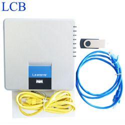 Unlocked Linksys SPA400 SIP IP PBX Internet 4 Port FXO Voicemail Adaptor Telepon VoIP Telepon Ponsel Sistem Server Bebas Kapal