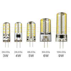 3 Вт 4 Вт 5 Вт 6 Вт 9 Вт SMD3014 G4 светодио дный лампы DC 12 В/AC 220 В силиконовые лампы 24/32/48/64/104 светодио дный s заменить 10 Вт 30 Вт 50 вт галогенной лампы