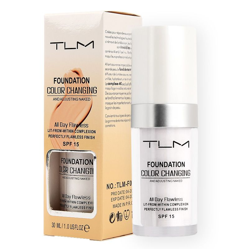 30ml TLM Color Changing Liquid Foundation Makeup Change To Your Skin Tone By Just Blending