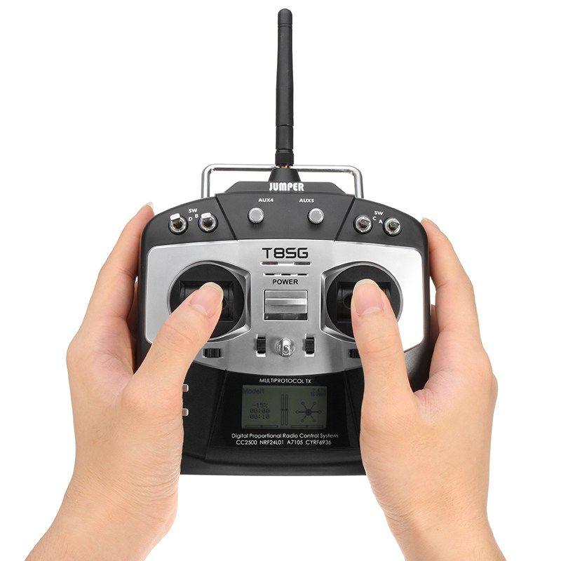 Jumper T8SG Multi-Protocol 2.4G 10CH Compact Transmitter for Flysky Frsky Walkera Devo Futaba