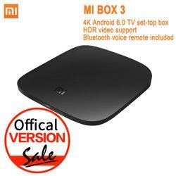 Versión global Xiao mi TV box 3 Android 6.0 4 K 8 GB HD WiFi Bluetooth multi-idioma youTube DTS Dolby IPTV Smart Media Player