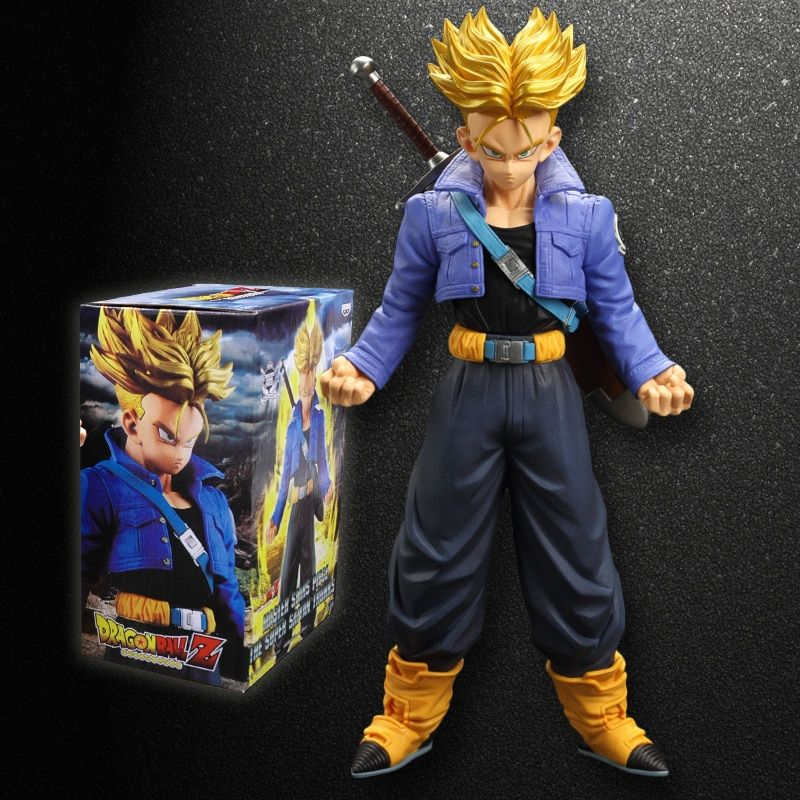 Pandadomik Dragon Ball 27cm Super Saiyan Trunks Action Figure 11inch PVC Model Kids Toys Action Toy Figures Collectible Gift Toy
