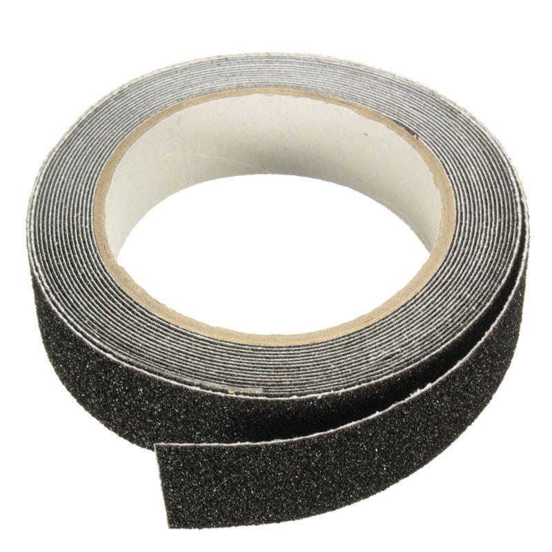 NEUE Safurance 5 mt x 2,5 cm Schwarz Roll Sicherheit Anti-slip Tape Non Skid Sicher Grit Band Griff aufkleber Warnband