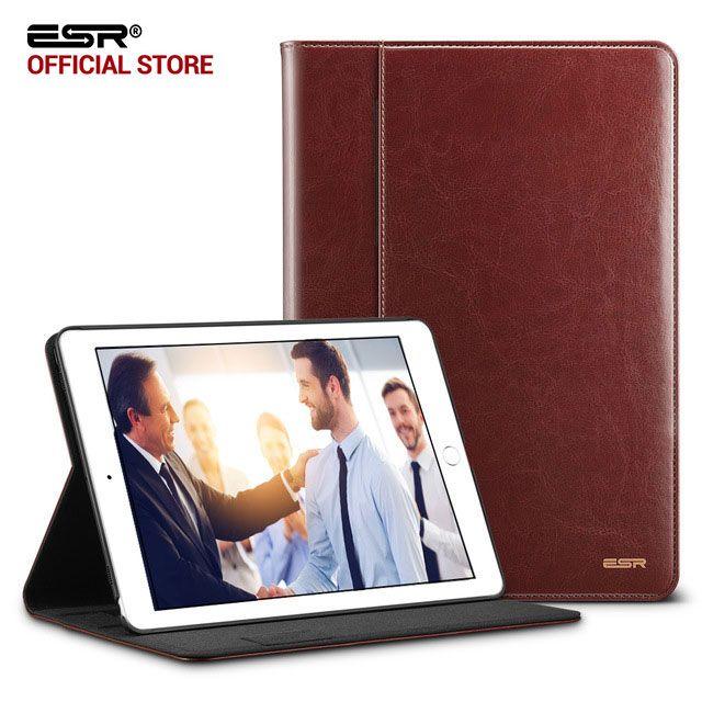 <font><b>Case</b></font> for iPad Pro 10.5, ESR Premium PU Leather Business Folio Stand Pocket Auto Wake Smart Cover <font><b>case</b></font> for iPad Pro 10.5 inches