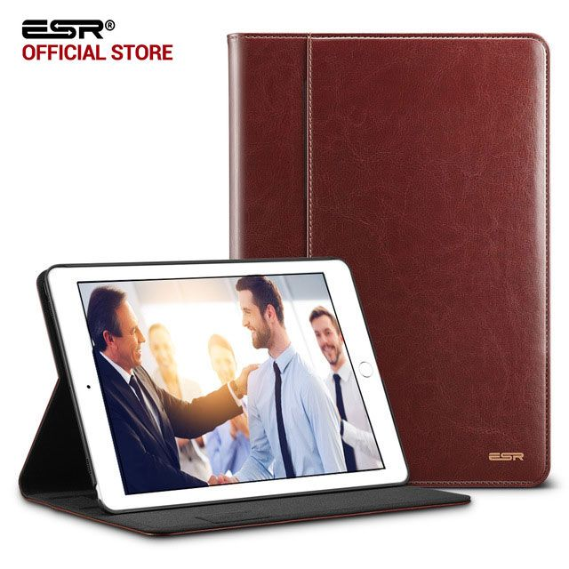 Case for iPad Pro 10.5, ESR Premium PU Leather Business Folio Stand Pocket Auto Wake Smart Cover case for iPad Pro 10.5 inches