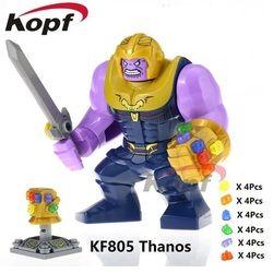 KF805 Pahlawan Super Sarung Tangan Infinity Gauntlet Dengan 24 pcs Daya Batu Thanos Vision Blok Bangunan Pendidikan Mainan Untuk Anak-anak