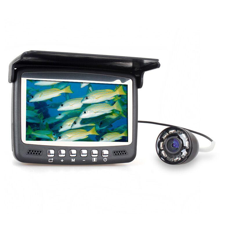 Eyoyo Original 15M Fish Finder Underwater Fishing Camera Fishfinder 4.3 LCD <font><b>Monitor</b></font> 1000TVL CAM 8pcs Infrared LED Sunvisor