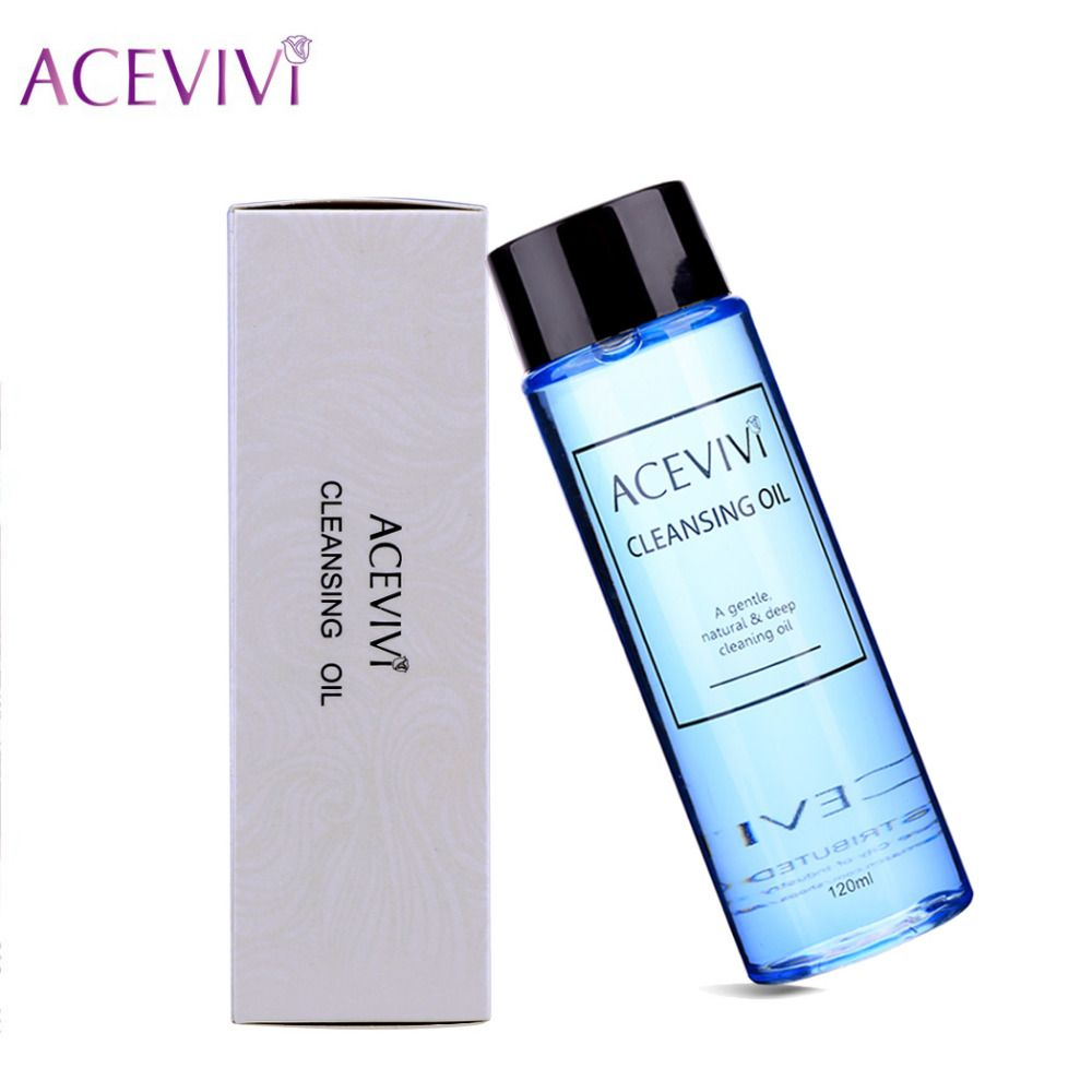 ACEVIVI 120ml Makeup Remover Cleaner Deep Cleaning Oil Facial Cleanser Face Eye Lips Skincare Shrink Pores Purify Demaquilante