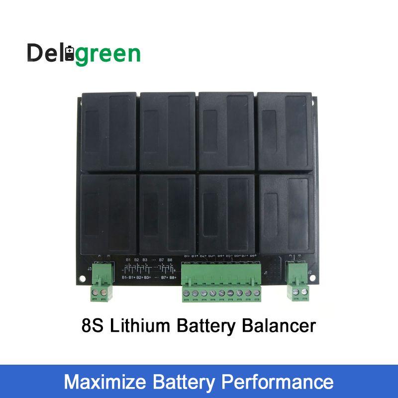 8 s/24 v QNBBM Lithium-Batterie Equalizer Balancer BMS für LIFEPO4, LTO NCM LMO 18650 DIY Pack