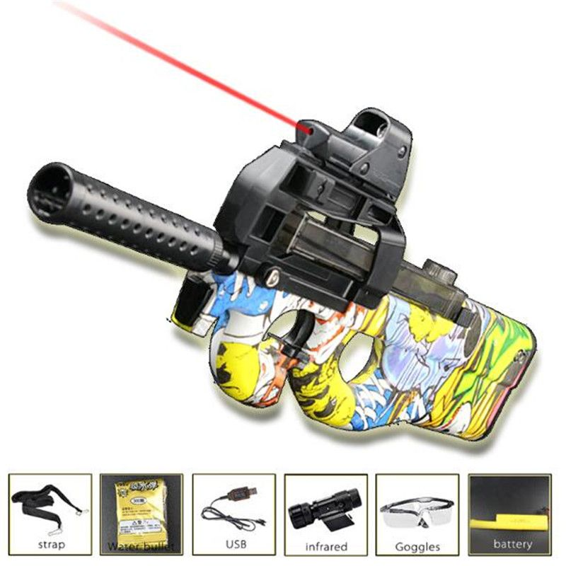 Live CS P90 Electric Toy Gun Orbeez Paintball Assault Snipe Weapon Soft Water Bullet Pistol with bullets Toys Boy Weapons toys