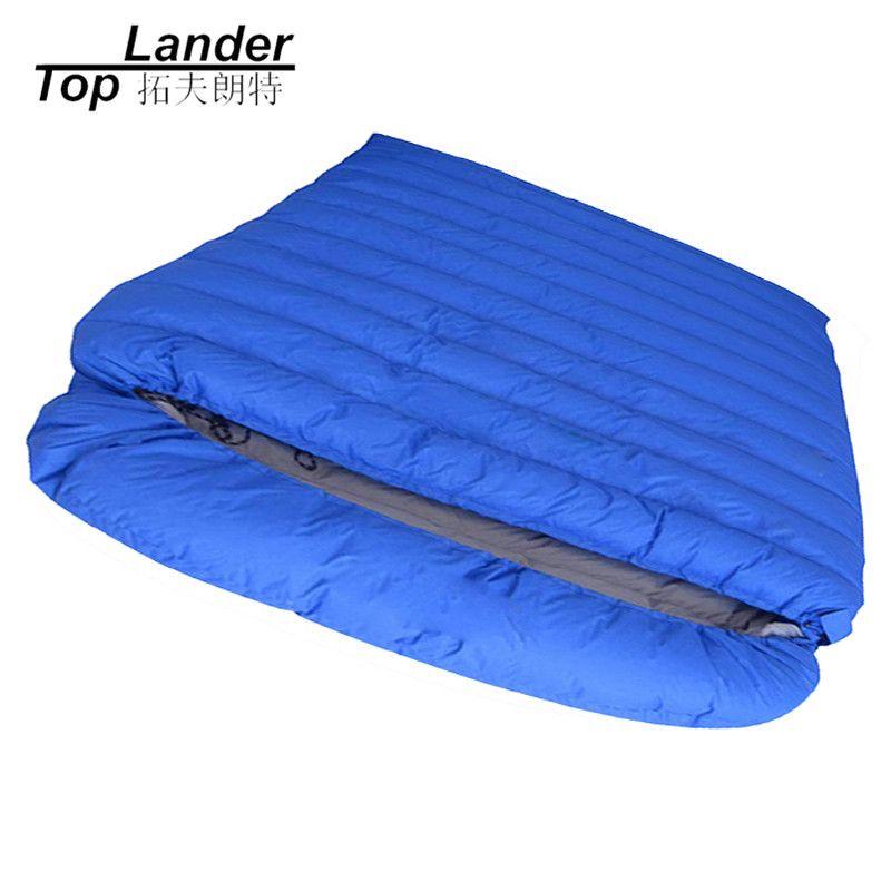 Umschlag Doppelt Schlafsäcke Erwachsenen Herbst Verlängert Warmen Paar Camping Schlafsack Winter Ultraleichte Ente Daunenschlafsack