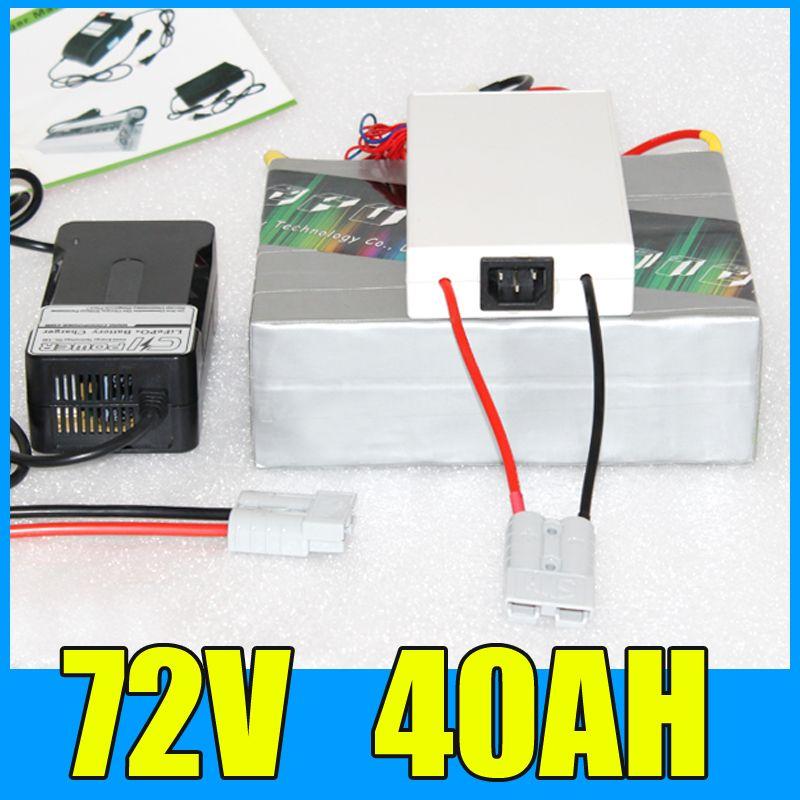 72 V 40AH Lithium-akku, 84 V 3000 Watt Elektro-fahrrad-roller solarenergie Batterie, Free BMS Ladegerät Verschiffen