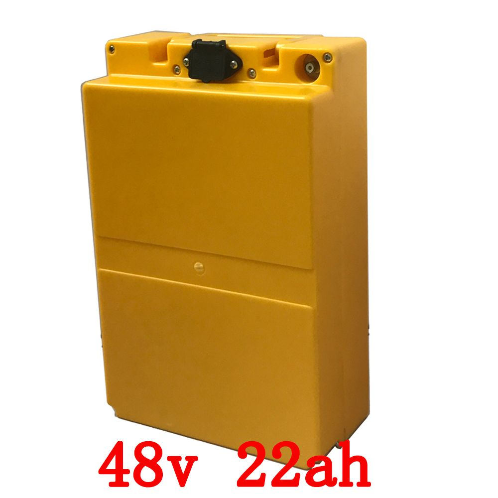 48v 22ah lithium battery 48V 22ah electric bicycle battery 48V 1000W scooter battery with plastic case with 54.6V 2A charger
