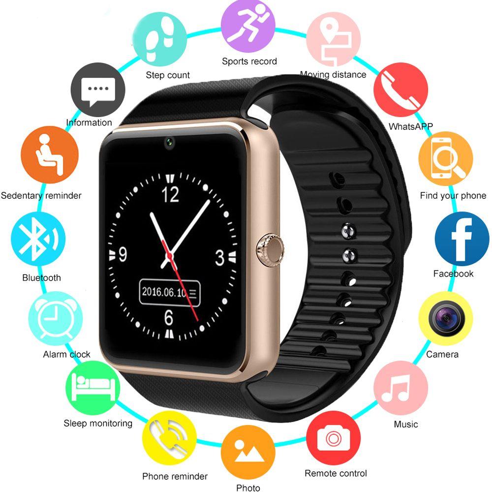 Smart Watch GT08 Children Men Women Kids Watch Phone SIM Card Camera Clock Bluetooth Smartwatch gt 08 Connect Android IOS PK Q18
