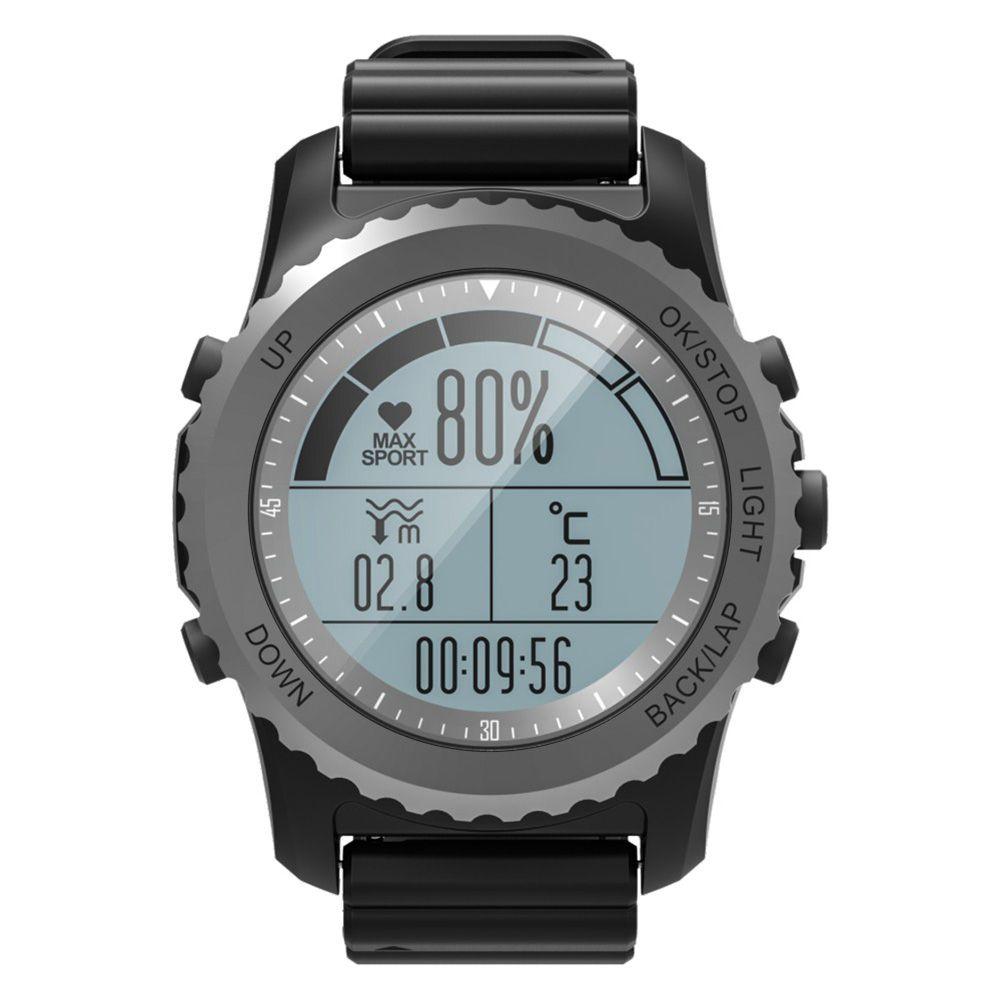 Smart Watch Adventurer Running Swimming Heart Rate Monitor Compass Altimeter Barometer Thermometer Sport Waterproof GPS Watch